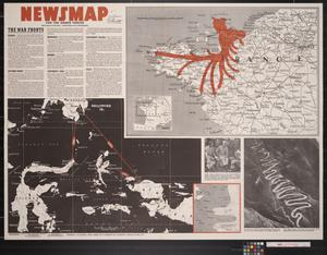 Primary view of object titled 'Newsmap. For the Armed Forces. 257th week of the war, 139th week of U.S. participation'.