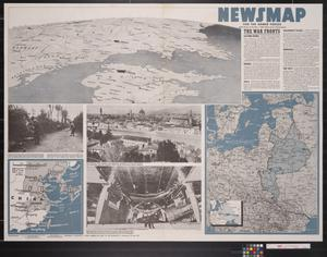 Primary view of object titled 'Newsmap. For the Armed Forces. 256th week of the war, 138th week of U.S. participation'.