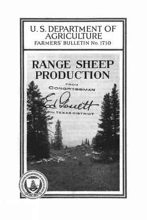 Primary view of object titled 'Range sheep production.'.