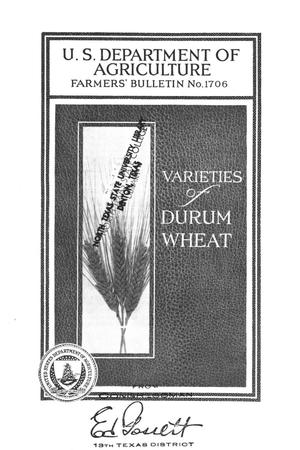 Primary view of object titled 'Varieties of durum wheat.'.