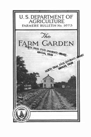 Primary view of object titled 'The farm garden.'.