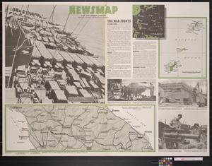 Primary view of object titled 'Newsmap. For the Armed Forces. 255th week of the war, 137th week of U.S. participation'.