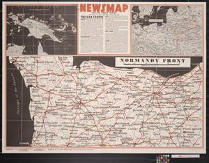 Primary view of object titled 'Newsmap. For the Armed Forces. 254th week of the war, 136th week of U.S. participation.'.