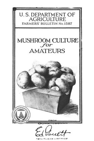 Primary view of object titled 'Mushroom culture for amateurs.'.