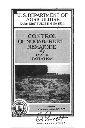 Primary view of object titled 'Control of sugar-beet nematode by crop rotation.'.