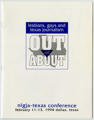 Primary view of object titled '[Schedule and program for the lesbians, gays and texas journalism out and about state conference]'.
