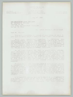 Primary view of object titled '[Letter: Vince Cruz to Bernard Stoller]'.