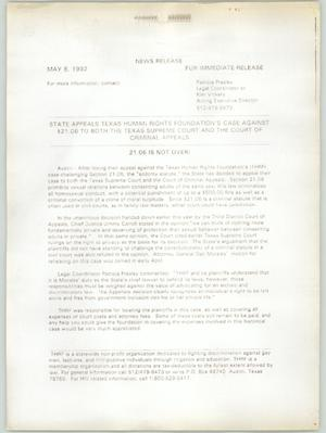 Primary view of object titled '[State appeals Texas Human Rights Foundation's case]'.