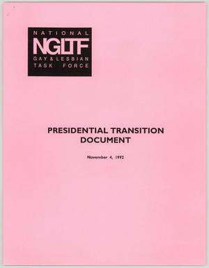 Primary view of object titled '[Presidential Transition Document]'.