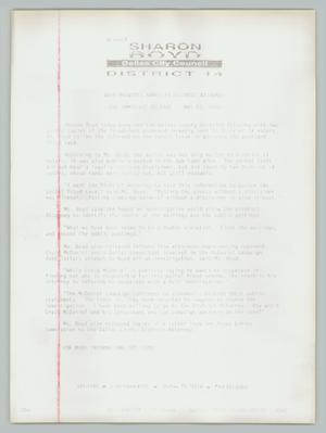 Primary view of object titled '[Press release: Boyd provides names to district attorney]'.