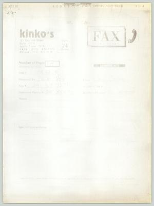 Primary view of object titled '[Fax to Dallas Voice]'.