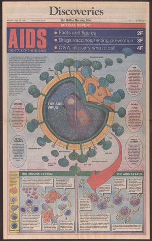 Primary view of object titled '[Newspaper article: AIDS, The State of the Science]'.
