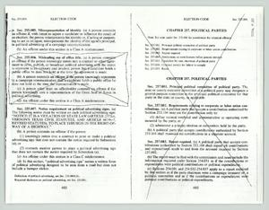 Primary view of object titled '[Election code excerpt]'.