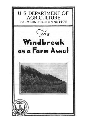 Primary view of object titled 'The Windbreak as a Farm Asset.'.