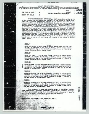 Primary view of object titled '[Warranty deed for Craig McDaniel]'.