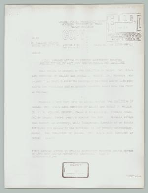 Primary view of object titled '[First amended motion to dismiss bankruptcy petition]'.