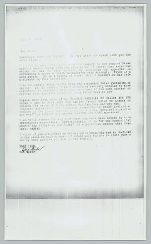 Primary view of object titled '[Copy of letter from Don Baker to Alan]'.