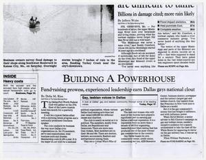 Primary view of object titled '[Newspaper copies: Building a Powerhouse]'.