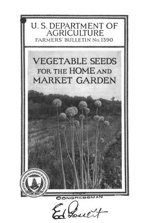 Primary view of object titled 'Vegetable seeds for the home and market garden.'.