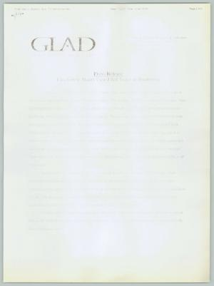 Primary view of object titled '[GLAD Press Release on Freedom of Marriage]'.
