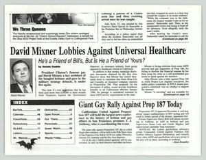 Primary view of object titled '[Copy of newspaper clipping: David Mixner Lobbies Against Universal Healthcare]'.