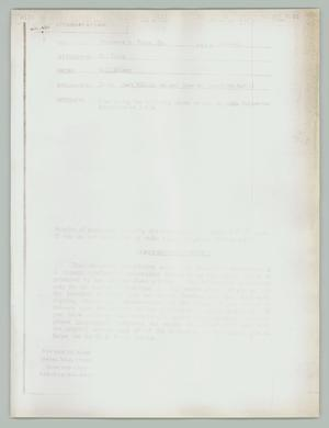 Primary view of object titled '[Correspondence: Mark William Nelson to Constance Fouts]'.