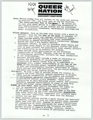 Primary view of object titled '[Agenda 1991: Queer Nation]'.