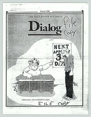 Primary view of object titled '[Excerpts from Dialog, March 1988]'.