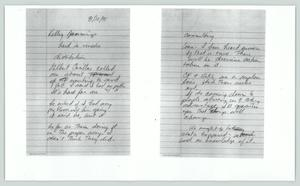 Primary view of object titled '[Copy of notes: Kelley Jennings]'.