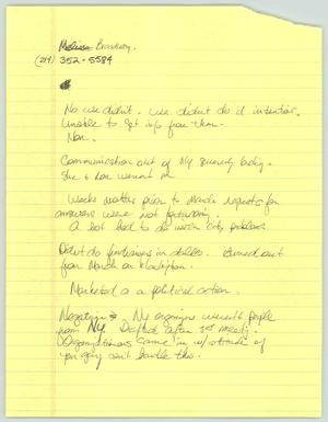 Primary view of object titled '[Handwritten notes: Negative commentary]'.