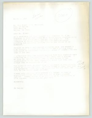 Primary view of object titled '[Drafted letter: Ed Oakley to Bob Sloan]'.