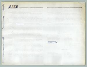 Primary view of object titled '[AMA Information Sheet]'.