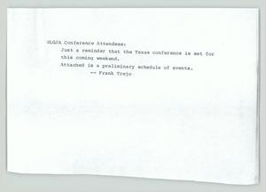 Primary view of object titled '[Schedule: National Lesbian and Gay Journalists Association conference]'.
