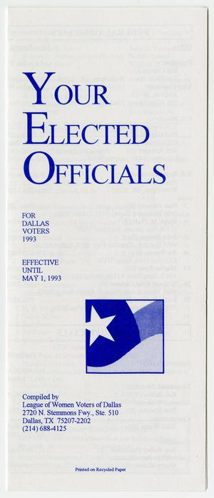 Primary view of object titled '[Brochure: Your Elected Officials]'.