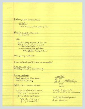Primary view of object titled '[Handwritten notes: Meetings during Sept]'.