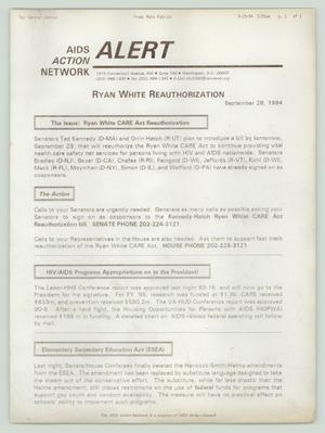 Primary view of object titled '[AIDS Action Network: Ryan White reauthorization]'.