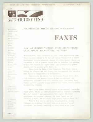 Primary view of object titled '[Gay and Lesbian Victory Fund Recommends Glen Maxey to National Network]'.