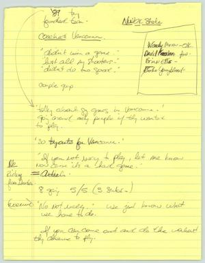 Primary view of object titled '[Handwritten notes: Sports]'.