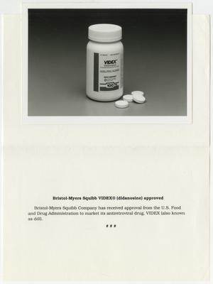 Primary view of object titled '[Bristol-Myers Squibb VIDEX: AIDS treatment medicine]'.