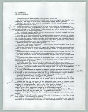 Primary view of object titled '[Draft: Dallas Voice article about Andre Espaillat]'.