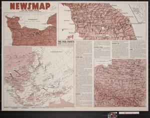 Primary view of object titled 'Newsmap. For the Armed Forces. 252nd week of the war, 134th week of U.S. participation'.