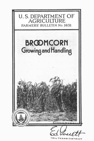 Primary view of object titled 'Broomcorn growing and handling.'.