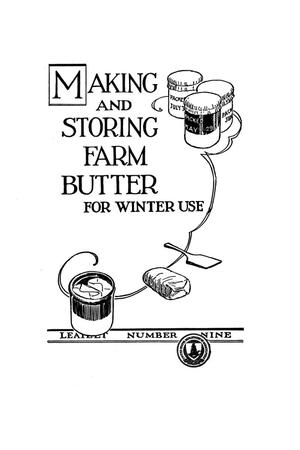 Primary view of object titled 'Making and storing farm butter for winter use.'.
