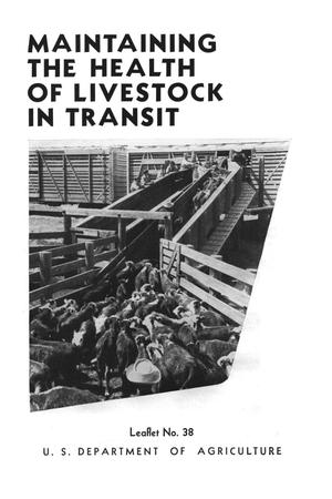Primary view of object titled 'Maintaining the health of livestock in transit.'.