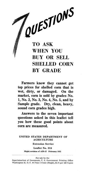 Primary view of object titled '7 questions to ask when you buy or sell shelled corn by grade.'.