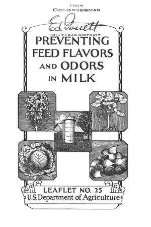 Primary view of object titled 'Preventing feed flavors and odors in milk.'.