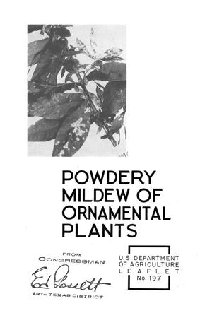 Primary view of object titled 'Powdery Mildew of Ornamental Plants.'.