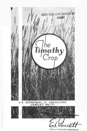 The timothy crop.