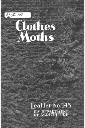 Primary view of object titled 'Clothes moths.'.