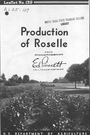 Primary view of object titled 'Production of roselle.'.